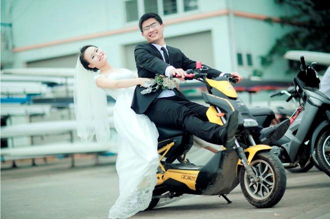 Bộ ảnh cưới vui nhộn: Cô dâu siêu quậy - chú rể nhút nhát 7