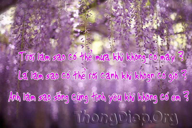 Làm sao anh có thể sống với tình yêu mà không có em…