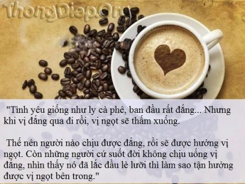 Tình yêu như một ly cà phê :)