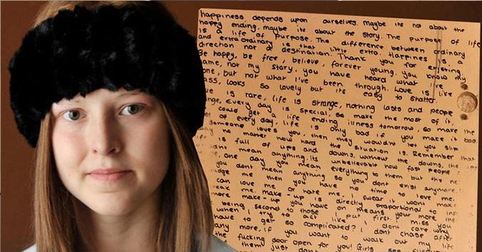 """Qua đời vì ung thư, cô bé 13 tuổi để lại thông điệp """"vượt thời gian"""" trong bức thư 3000 chữ khiến mọi người rơi lệ"""