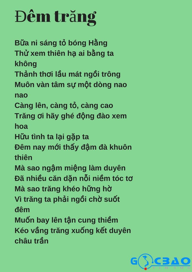 Những Bài Thơ Về Trăng Hay Nhất Của Các Nhà Thơ Nổi Tiếng Việt Nam